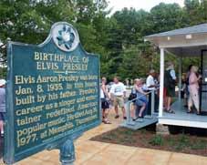 Magie du Sud Tours - Memphis, TN > Elvis Presley's Birthplace > Tupelo, MS